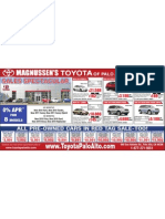 Toyota of Palo Alto | We serve Sunnyvale Mountain View - Print Ad Used Cars Corolla Yaris Camry Prius Highlander Rav4 2010