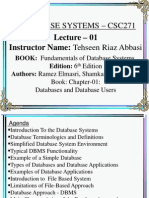 DB Lecture 01