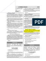 """Decreto Supremo N° 011-2010-MINAM """"Modifican artículos del Decreto Supremo Nº 009-2009-MINAM - Medidas de Ecoeficiencia para el Sector Público"""".pdf"""