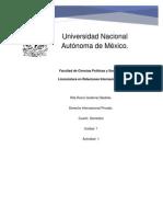 Gutierrez Bedolla Rita Rocio-Derecho internacional privado- Unidad 1- Actividad 1.docx