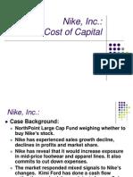 Nike, Inc Cost of Capital Case Study