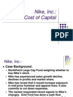 Nike, Inc Cost of Capital Case Study
