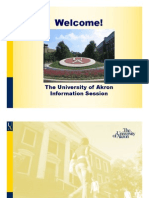 University of Akron Admissions PowerPoint