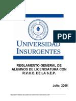 Universidad Insurgentes Licenciatura SEP