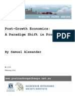 Post Growth Economics