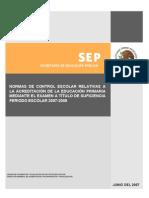 SEP Acreditación de La Educación Primaria Mediante El Examen a Título de Suficiencia Periodo Escolar 2007-2008