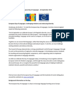 European Day of Languages SG Statement2014