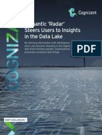 Semantic 'Radar' Steers Users to Insights in the Data Lake