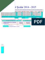 Structura Anului Scolar 20142015