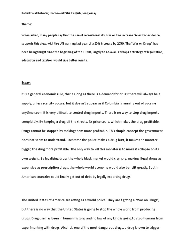say no to drugs essay co say