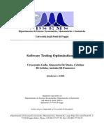 Software Testing Optimization Models