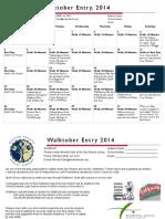 Walktober, 2014 (Updated)