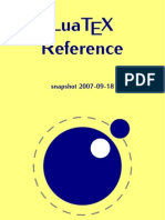 LuaTeX Reference (snapshot 2007-09-18)