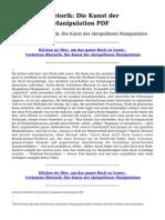 Verbotene Rhetorik Die Kunst Der Skrupellosen Manipulation PDF