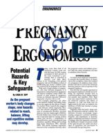 Pregnancy and Ergonomics Potential Hazarsd and Key Safeguards