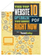 Hostbaby Website Optimization