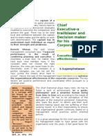 Chief ExecutiveA Pathfinder and Decision Maker