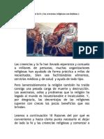 09-10 Razones de Por Qué La Fe y Las Creencias Religiosas Son Dañinas y Peligrosas