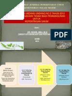 Implementasi Undang Undang Nomor 2 Tahun 2012 tentang Pengadaan Tanah bagi Pembangunan untuk Kepentingan Umum