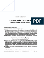 La Comunion Trinitaria. La Contribucion de Karl Rahner..pdf