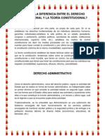 CUAL ES LA DIFERENCIA ENTRE EL DERECHO CONSTITUCIONAL Y LA TEORÍA CONSTITUCIONAL.docx