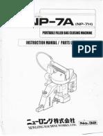 Nulong Portable sewing machine manual