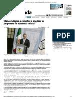 28-09-14 Mancera llama a expertos a analizar su propuesta de aumento salarial