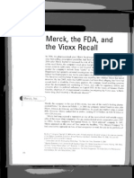 Merck the FDA and the Vioxx Recall