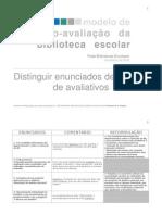 8ª sessão - metodologias de avaliação - enunciados descritivos e avaliativos