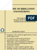 Scope of Irrigation Engineering