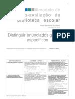 8ª sessão - metodologias de avaliação - enunciados gerais e específicos