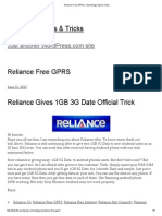 Reliance Free GPRS _ Technology Tips & Tricks