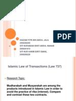 Presentation Mudharabah and Musyarakah Final