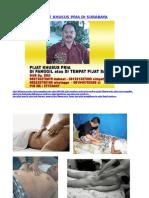 Pijat Khusus Pria Surabaya