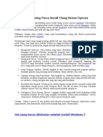 6 Hal Penting Pasca Install Ulang Sistem Operasi