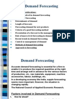 Demand Forecasting ME | Linear Trend Estimation | Forecasting