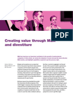 Creating Value Through M and a and Divestiture
