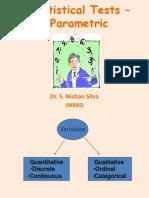 statistical tests - parametric