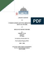 Reliance Mf-buying Behaviour