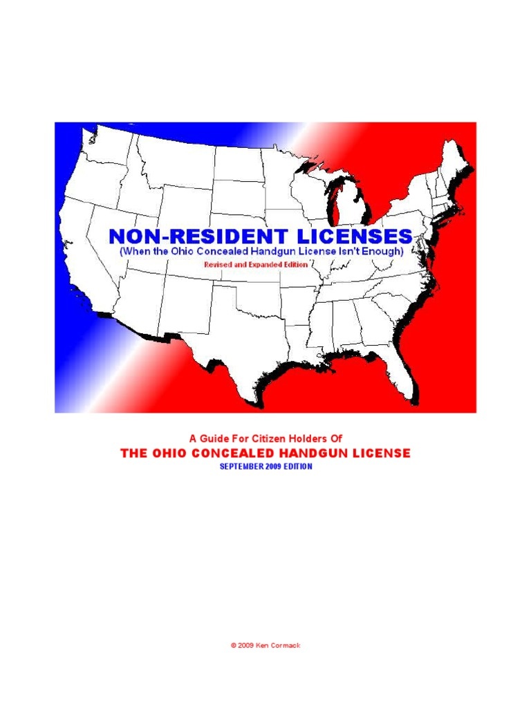 Non Resident CCW Licenses | Concealed Carry In The United States |  Government