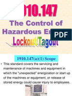 OSHA 511 Control of Hazardous Energy