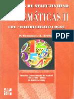 Pruebas de Selectividad Matemáticas 2