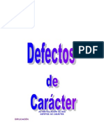 Defectos de Caracter
