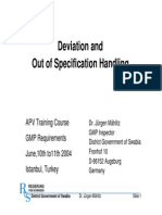 Deviation and OOS Handling