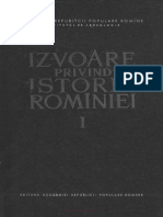 Izvoare Privind Istoria Romaniei Vol 1