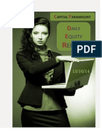Daily Equity Report 13 OCT by CapitalParamount