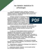 Utilizarea datelor statistice în arheologie.  doc.doc