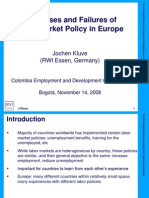 Successes and Failures of Labor Market Policy in Europe - J. Kluve