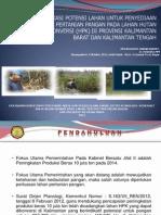 Identifikasi Potensi Lahan untuk Penyediaan Lahan Pertanian Pangan pada Lahan Hutan Produksi Konversi (HPK) di Provinsi Kalimantan Barat dan Kalimantan Tengah