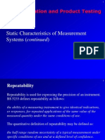 Fourth Lecture - Static Characteristics of Measurement Systems